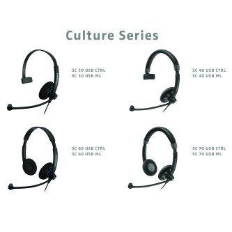 SC70 USB MS, Dual-sided wideband headset