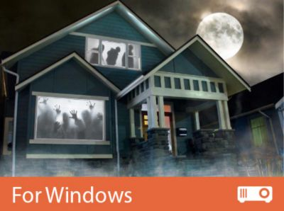 use your tv monitor or projector to display atmosfearfx digital decorations and turn any environment or surface into a thrilling haunting experience