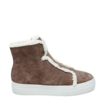 Stevemadden athletic alpine taupe suede side