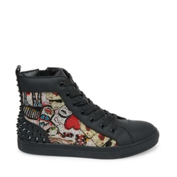 Stevemadden athletic chaos red multi side