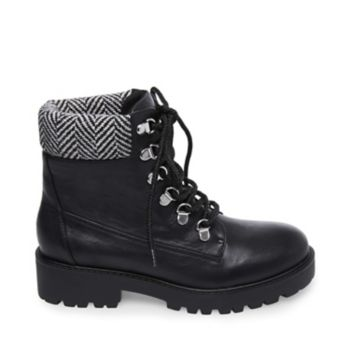 Stevemadden booties anarchy black leather side