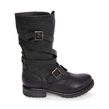 Stevemadden booties banddit black leather side