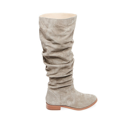 Steve Madden Beacon Ruched Knee High Boots, Taupe