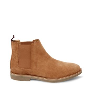 A subtle take on the classic Chelsea boot, HIGHLYTE streamlines the style\\\'s appearance with color-matched elastic goring. Suede surfaces provide rustic texture and an extra-short shaft ensures broad versatility. Suede upper material Leather lining Rubber sole 1 inch heel height