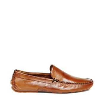 Get ready to look VICIUS-ly stylish in these leather slip-on loafers. These are an easy but polished addition to any casual outfit. Tumbled leather upper Man-made lining Rubber sole