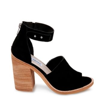 CONNER's stacked heel and sweet open-toed upper exude femininity, while rustic suede texture and an earthy color palette relax the look. Don this durable sandal with jeans and a cozy sweater in a polished casual ensemble. Suede upper material Man-made lining Man-made sole 4 inch heel height Functional back zipper