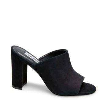 Simple yet oh-so-sumptuous, the ESMERALDA slide looks luxe with soft matte surfaces, a flatteringly tall heel and a foot-hugging upper. Step into this stunner to give your minimalist getups instant appeal. Nubuck upper material Man-made lining Man-made sole 3.5 inch heel height