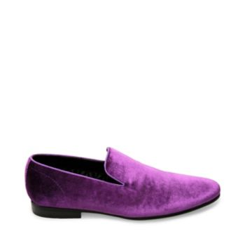Look no further for effortlessly fancy footwear. LAIGHT\\\'s plush upper, masculine smoking slipper silhouette and sturdy sole exude leisurely elegance. Velvet upper material Leather and nylon lining Rubber sole .75 inch heel height