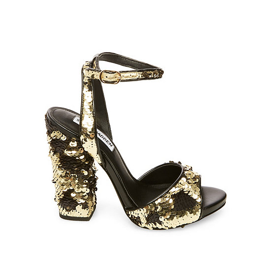 Steve Madden Ritzy Sequin Block Heel Dress Sandals lzwPtPK