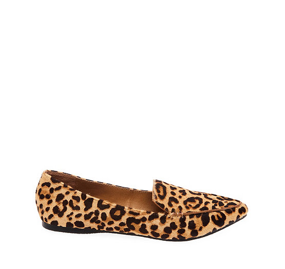 Steve Madden Feather Leopard Print Calf Hair Loafers 3J7JyW