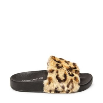 Pamper your feet with JSOFTEY, playfully plush footwear perfect for taking leisurely strolls around the neighborhood! Faux fur upper Man-made lining Man-made sole .75 inch platform