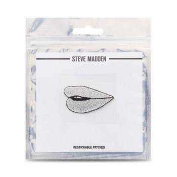 Metallic lips patch Designed and custom made exclusively for Steve Madden Peel & stick on almost any surface Patch is restickable Man-made materials