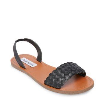 Stevemadden sandals addison black leather