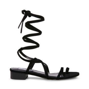 Stevemadden sandals adrenaline black suede side