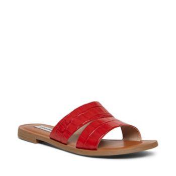 Stevemadden sandals alexandra red crocodile