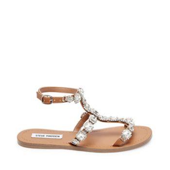 Stevemadden sandals annie rhinestones side