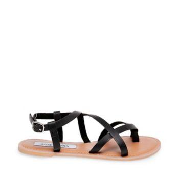 Stevemadden sandals beloved black leather side
