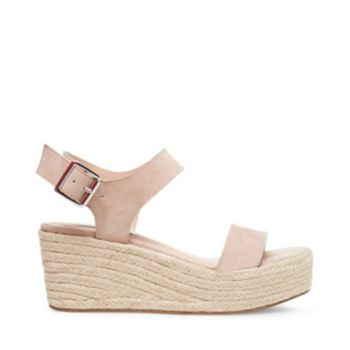 Stevemadden sandals bree nude suede side