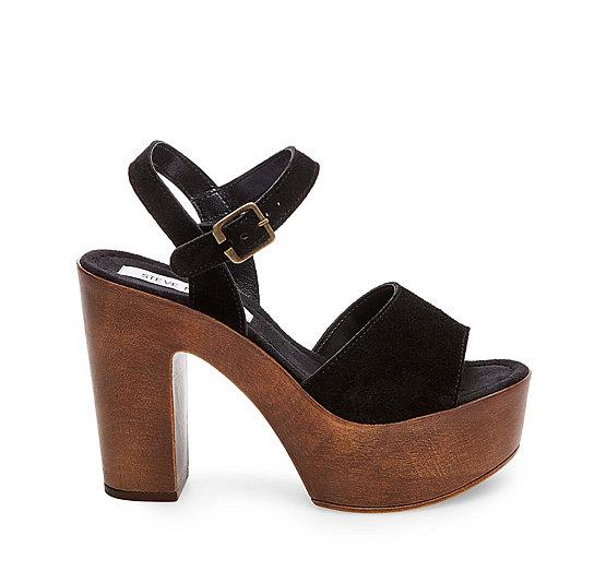 Sandals for Women On Sale, Black, suede, 2017, 3.5 4 4.5 5.5 6 Steve Madden