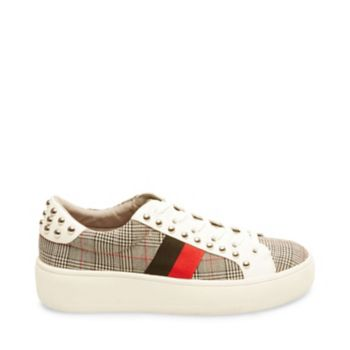 Rich in decorative details and elevated by a flatform sole, BELLE is the sneaker for fashion-lovers! Sporty stripes and edgy studs provide stylish direction, while pony hair surfaces add luxe texture. Man-made or pony hair upper with ribbon and studs Man-made lining Man-made sole 1.25 inch platform