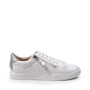 Cement your sneaker style star status with SABRINA, a fresh new lace-up with a classic silhouette, perforated upper panels and a stellar collar detail. An asymmetrically placed zipper gives the style easy-on appeal. Leather and man-made upper material Man-made lining Man-made sole 1 inch platform
