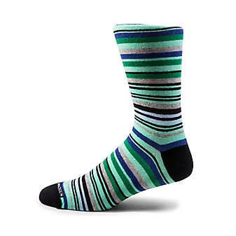 3PK GREEN AND BLUE STRIPES