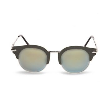 You can\\\'t go wrong with these classically cool winged peepers - a style that has remained popular among tastemakers for decades! Shield your eyes from the sun while giving your look a dash of retro sophistication! Browline sunglasses Metal wire and plastic frame Adjustable nose pads