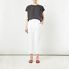 CROPPED PLEATED TROUSER