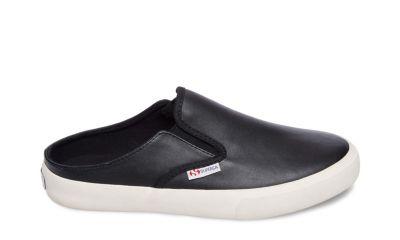 Superga 2388 leaw black leather side