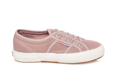 Superga 2750 meshu mauve fabric side