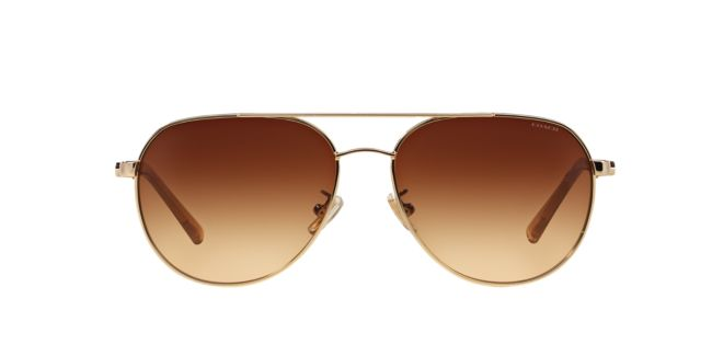 39be3ff3008 Coach Gold Light Brown Gradient HC7053 58 L137 Sunglasses ...