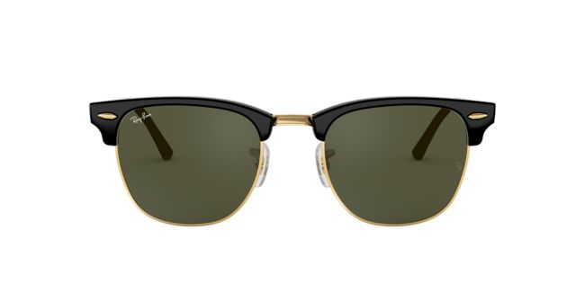 c5f447c1a7d Ray-Ban Black Shiny Clubmaster 49 RB3016 Sunglasses