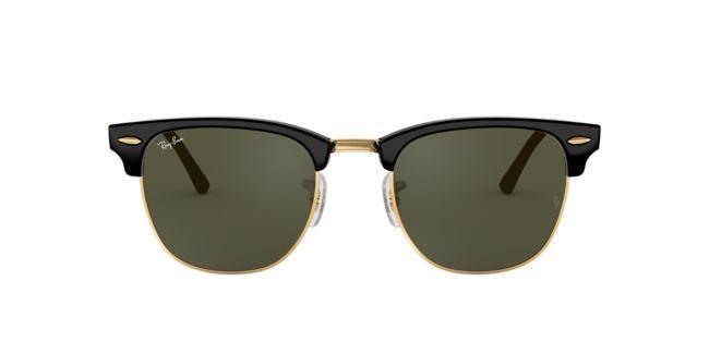 ad683e5d3 Ray-Ban Black Shiny Clubmaster 49 RB3016 Sunglasses | TargetOptical.com