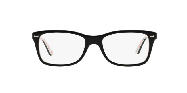 Ray-Ban Black Multi RX5228 Womens Prescription Eyeglasses ...