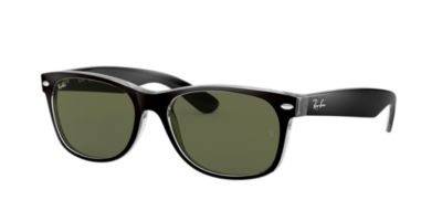 Ray-Ban Black Clear RB2132 58 New Wayfarer