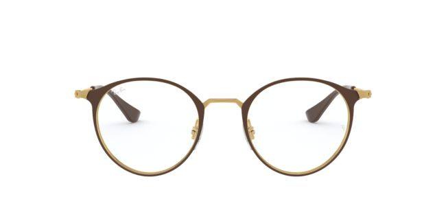 Ray-Ban Gold Brown RX6378 Eyeglasses | Target Optical