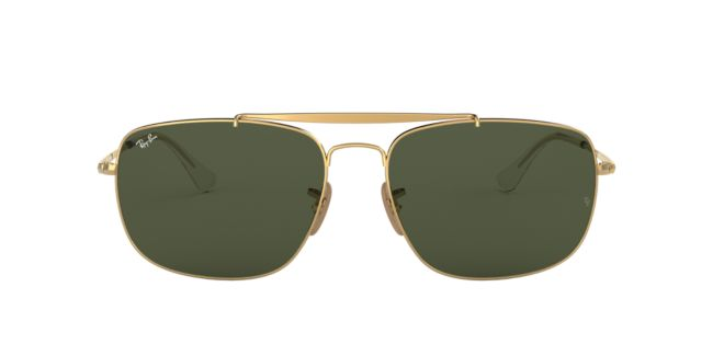 fc0daa9a9cf Ray-Ban Gold Green RB3560 61 THE COLONEL Sunglasses