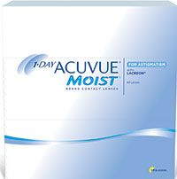1-DAY ACUVUE® MOIST for ASTIGMATISM - 90 pack $89.99