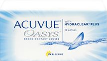 ACUVUE OASYS® with HYDRACLEAR® PLUS Technology, 12 pack $80.99
