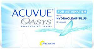 ACUVUE OASYS® for ASTIGMATISM, 6 pack $49.99
