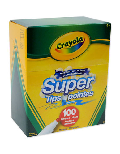 Crayola 100-Pack Washable Super Tips Markers-MULTI-One Size