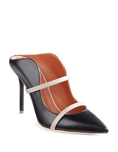'Maureen' Pointy Toe Pump (Women), Black Leather