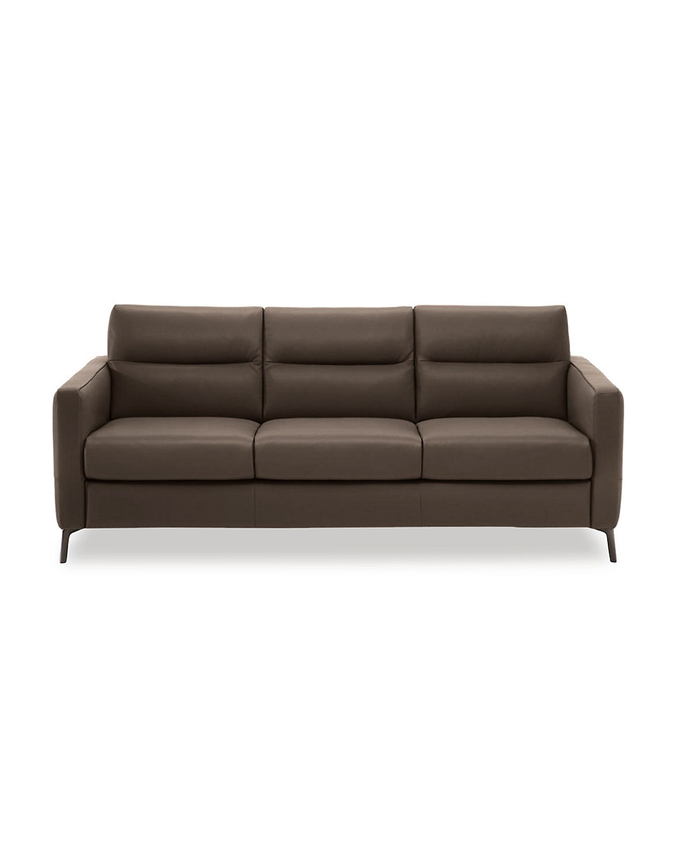 Natuzzi Editions Naples Leather Sofa With Track Arm Www
