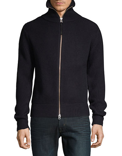 Tiger Of Sweden Ribbed Wool Zip Sweater 90341368