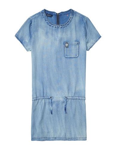 173249281b Maison Scotch Denim Drawstring T-Shirt Dress-Blue