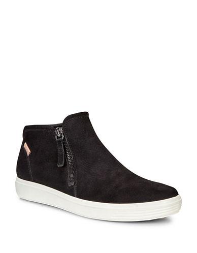 Ecco Soft 7 Side Zip Bootie Sneaker - Women's