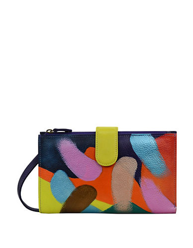 Anuschka Brushstroke Large Leather Smartphone Wallet 90114687