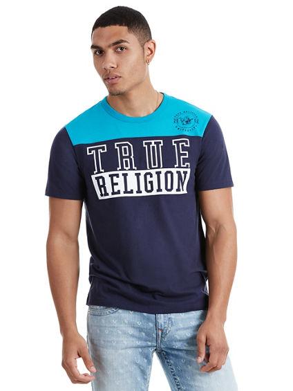 BLOCK TRUE RELIGION FOOTBALL MENS TEE