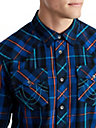 MENS PLAID WESTERN BUTTON UP SHIRT