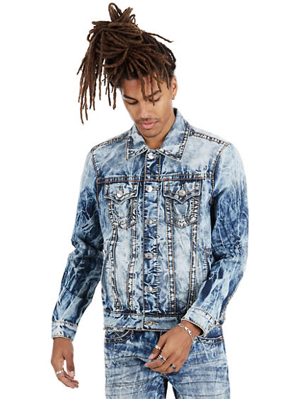 TRUCKER JACKET OLD MULTI BIG T MENS JACKET
